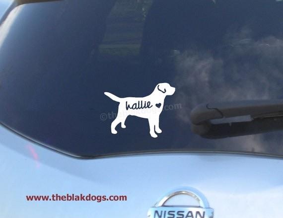 Labrador Retriever Silhouette Vinyl Sticker Personalized Car