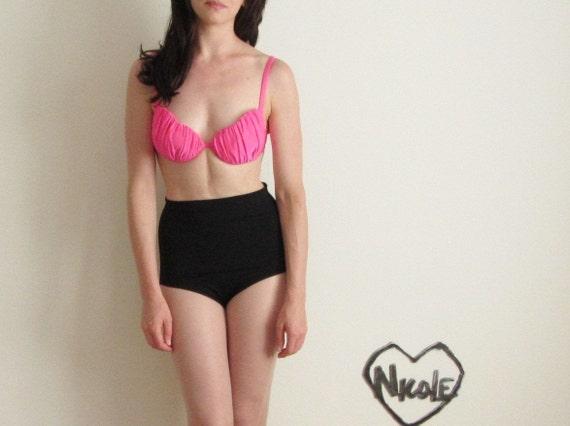 sea shell bikini top . neon little mermaid swimsuit .small.medium