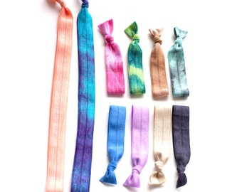 The Mane Message Sampler Package - Both Solid and Tie Dye Hair Ties and Headbands - 8 Hair Ties and 2 Headbands by Mane Message on Etsy
