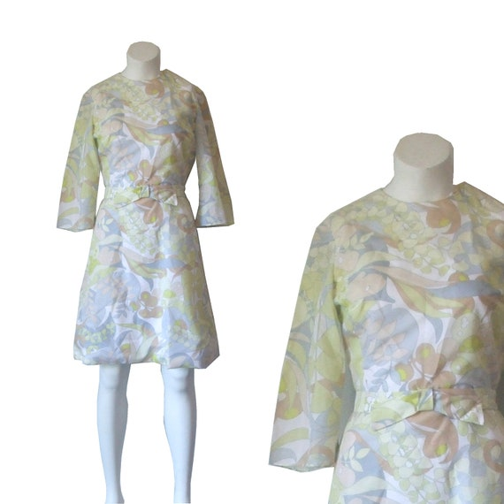 """HALF OFF 60s dress A-line bell sleeve """"A Ravir"""" MADMEN"""