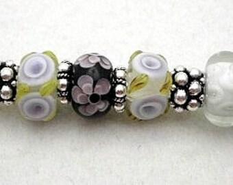 Lavender Times Journal Beaded Pen   Purple Bead Pen   Gift Bead Pen   Lampwork Beaded Pen   Unique Bead Pen   Writing Beaded Pen - PN00029