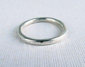 sterling silver stacking ring made to order