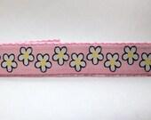 Three Styles Sookie Wrap Childrens Belt Daisies on Pink