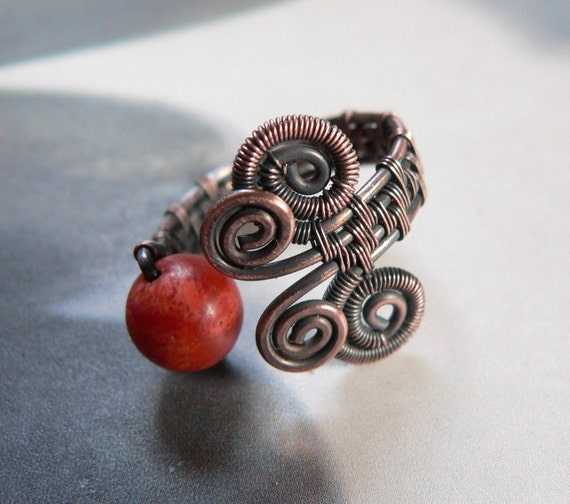https://www.etsy.com/listing/113687388/coral-copper-ring-wire-wrapped-ring