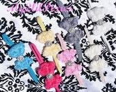 Choose one Baby Headband Toddler Headband Flower Headband- Newborn Headband Rose Mesh Bow- Baby Headband- Photo Prop