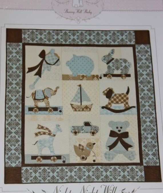 Nighty Night Will Baby Quilt Pattern Bunny Hill Design