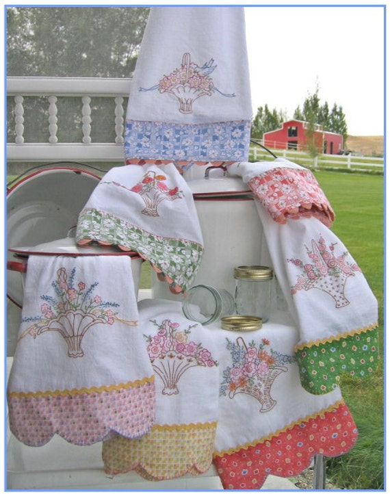 Grandma 39 s tea towels 239 hand embroidery pattern - Free embroidery designs for kitchen towels ...