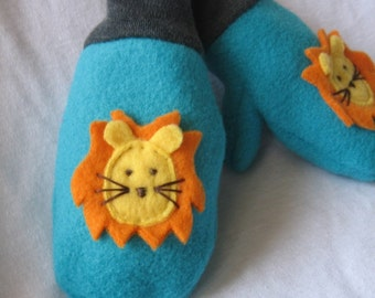 Leo the Lion Mittens