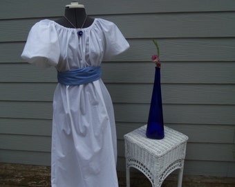 Titanic Jane Austen Regency Dress  and Sash costume all colors and sizes