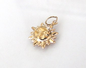 Gold Filled Sun Charm 12mm, GC33