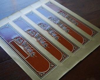 LAS VEGAS -  Cigar Box End Labels- (5) - ephemera for - collecting - scrapbooking - altered art