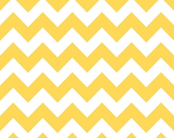 SALE - Riley Blake - Medium Chevron in Yellow