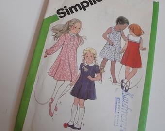 1980s Vintage Simplicity Sewing Pattern Sun Dress School Size 6 Child