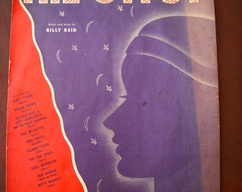 Vintage - Sheet Music - 1940's Piano - Song