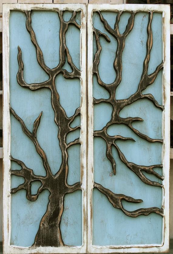 Rustic Cabin Wall Decor : Rustic cabin decor beach cottage shabby tree wall art