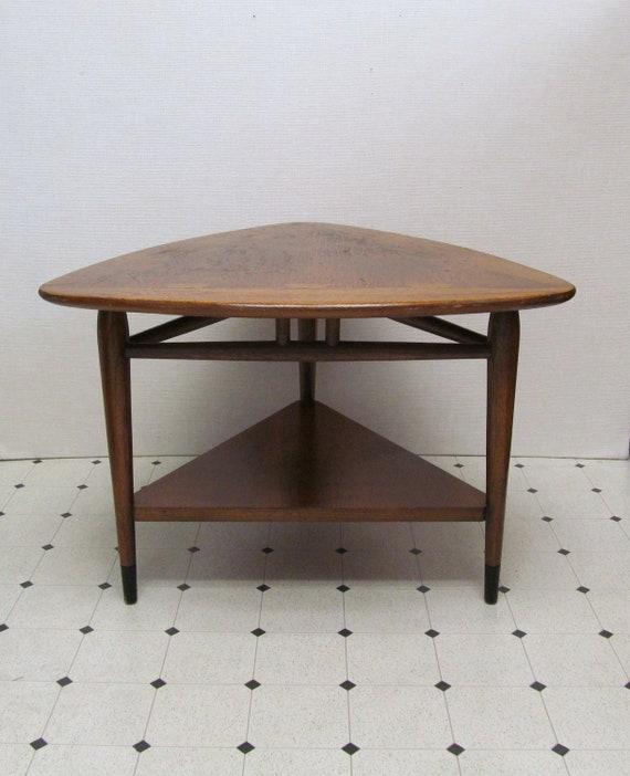 Vintage Mid Century Lane Triangle Side Table Acclaim Series