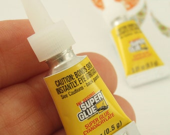 The Original Super Glue - TWO Single Use Size Tubes - 0.01 ounce each