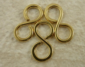 3 Handmade Figure Eight Links - You Pick Metal Copper, Brass, Bronze, Nickel Silver, Black Iron, Stainless Steel