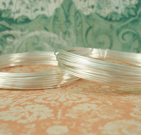 Sale 22 gauge FINE SILVER Wire with Copper Core - Half Hard - 32 Feet - (10 Meters) -100% Guarantee