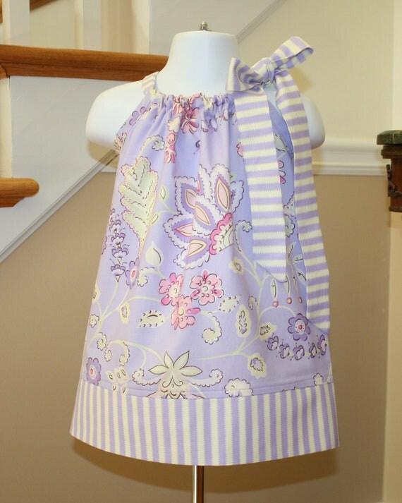 baby girl Pillowcase dress SALE fall Dena lilac purple , green, pink, thanksgiving girls dress, toddler pillowcase dress