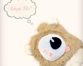 SALE, Cyclops plush, hamster plush, Furry friend hamster plush