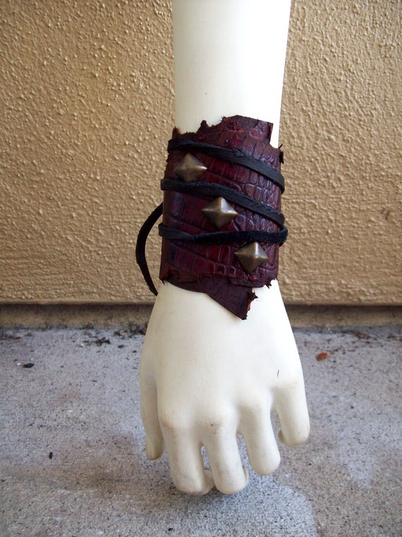 Winter Sale -- Scarlet Pyramids Cuff