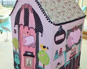 """Made-to-Order -  Paris Boutique & French Bakery Pink and Black Girls Playhouse - """"The Lacy"""" Design"""