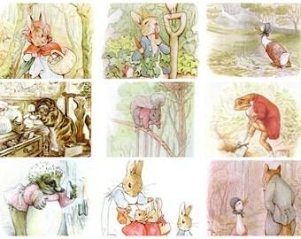 423 Beatrix Potter Images from Peter Rabbit, Squirrel Nutkin, Jemima Puddle-Duck, etc.  Instant Digital Download