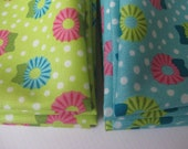 Cloth Napkins - Holiday Wreaths - Blue or Green