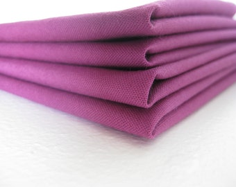 Cloth Napkins - Red Violet - 100% Cotton