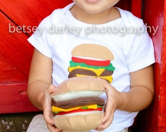 Handmade Cheeseburger/Hamburger - Toy Food - (Made to Order)
