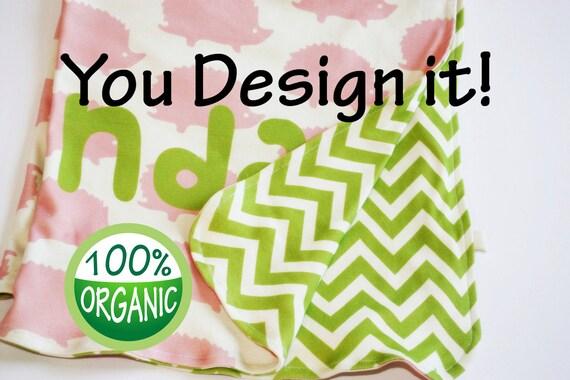 Baby blanket, Organic baby blanket, Security Blanket, Lovey Blanket, Custom personalized, photo prop, natural organic nursery, baby blankets