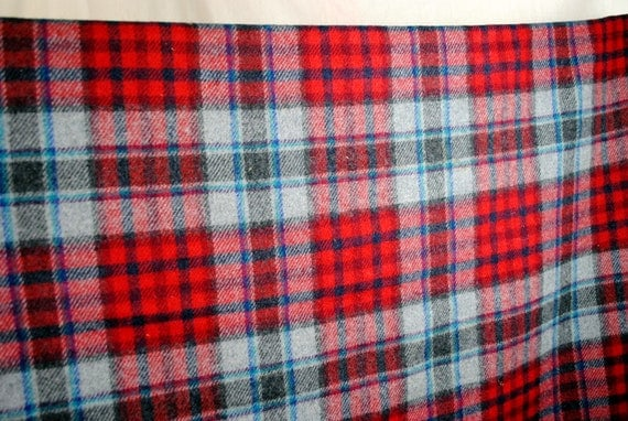 Vintage Pendleton Plaid Winter Blanket