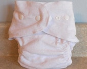 Fitted Small Cloth Diaper- 6 to 12 pounds- Basic White with thread choices- Made to Order