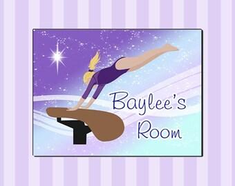 Gymnastics Room Sign for Kids - Vault Dreams Design