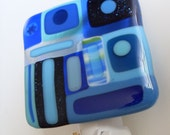 The Blues Fused glass night light