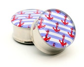 Anchor Picture Plugs gauges - 2g, 0g, 00g, 7/16, 1/2, 9/16, 5/8, 3/4, 7/8, 1 inch