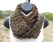 Long Infinity Scarf - Olive Green, Brown, Burgundy, Teal, Purple - Ready to Ship