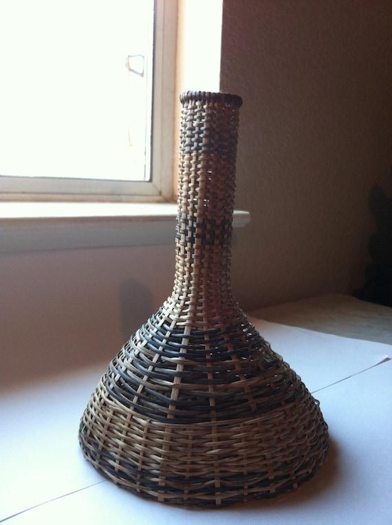 Wicker Woven Vase