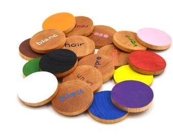 French Memory Game Wooden Toy Waldorf Montessori
