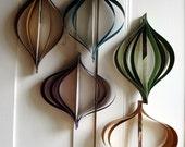 Fall Decor, Mid Century Decor, Paper Ornaments,