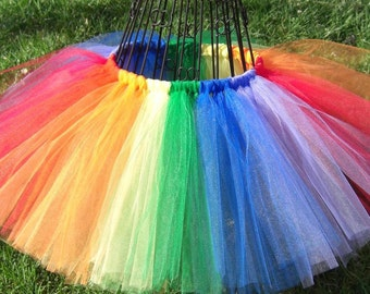 Rainbow tutu , Girls Rainbow tutu, Baby Rainbow tutu---  Multi-colored Tutu--- Red, Orange, Yellow, Green, Blue, Purple Tutu Skirt
