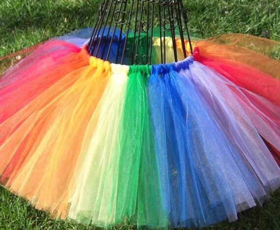 Rainbow costume-Rainbow tutu -Girls Rainbow tutu, Baby Rainbow tutu- Multi-colored Tutu- Red, Orange, Yellow, Green, Blue, Purple Tutu Skirt