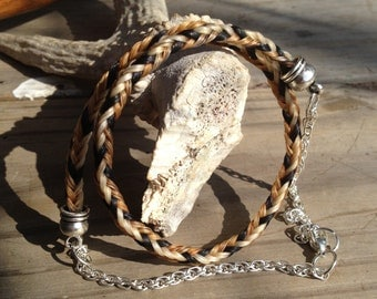 Custom Horsehair Necklace - Single Strand Round Braid - 6MM