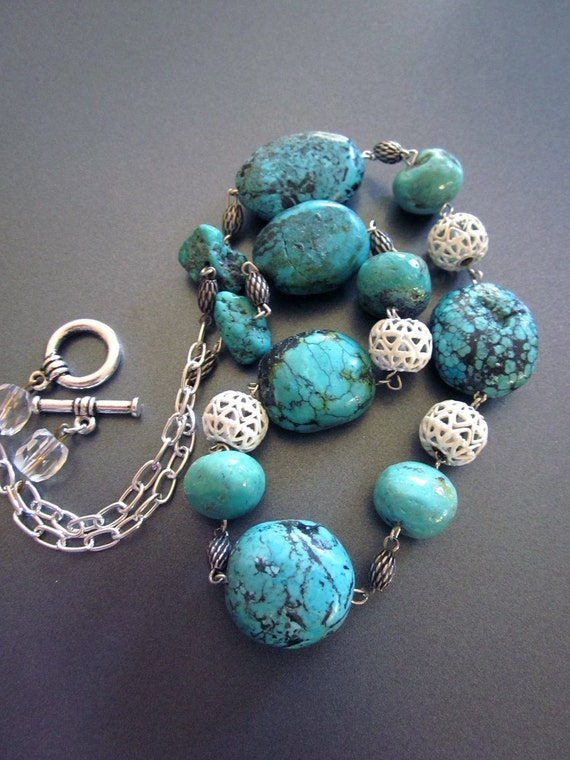 natural turquoise necklace ralph lauren style