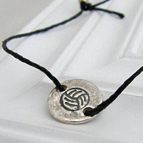 Volleyball Bracelet - Hand Stamped Silver Wish Bracelet on Etsy