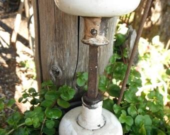 Vintage Pair of Porcelain Doorknobs