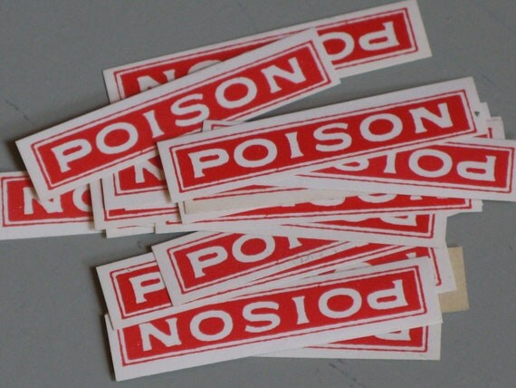 vintage apothecary POISON labels for Halloween