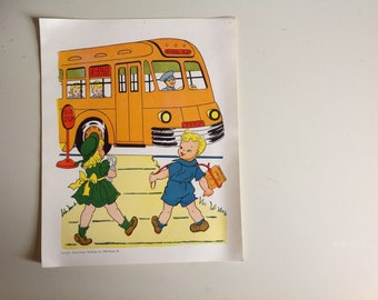 1960s Vintage School Mini Poster. The Bus Driver.