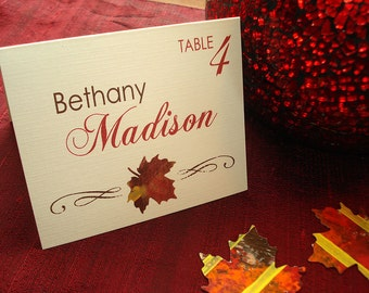 Leaf It Up To Me Wedding Reception Place Card - Sample